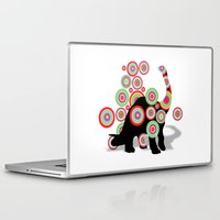 dinosaurs Laptop & iPad Skins featuring dinosaurs by mark ashkenazi