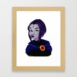 Skeptic Raven Framed Art Print