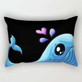 The Love Whale | Spout Heart Valentine Rectangular Pillow