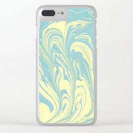 Marble of Yellow & Green Clear iPhone Case