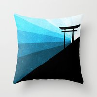 sunshine Throw Pillows featuring sunshine by Darthdaloon
