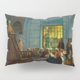 Sermon in the Mosque by Jéan Leon Gerome Pillow Sham