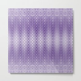 Cool Frosted Lilac Geometric Pattern Metal Print
