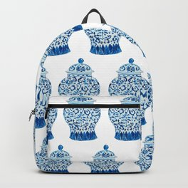 Blue and White Ginger Jar  Backpack