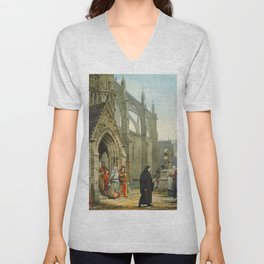 "Sir Lawrence Alma-Tadema ""Faust and Marguerite"" Unisex V-Neck"