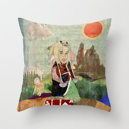 the peculiar adventures of alabee blonde Throw Pillow