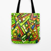 oakland Tote Bags featuring Uptown Oakland by Octavious Sage