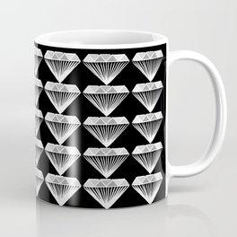 Diamonds Pattern - Black and White and Grey Coffee Mug