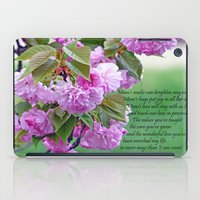poem iPad Cases featuring Mother's Day Poem  by Frankie Cat