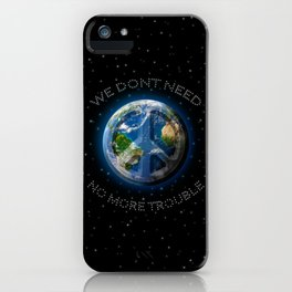 No Trouble iPhone Case