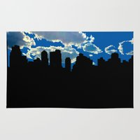 nyc Area & Throw Rugs featuring NYC by trebam