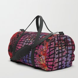 Rails on Red Duffle Bag