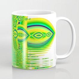 Lemon Lime Cool Summer Day, Fractal Dreams in Green Coffee Mug