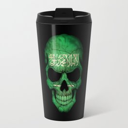 Dark Skull with Flag of Saudi Arabia Travel Mug