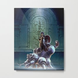 Robot Ghost in the Shell Metal Print