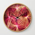 Raspberry Supernovae Geometric Abstract by donovanh