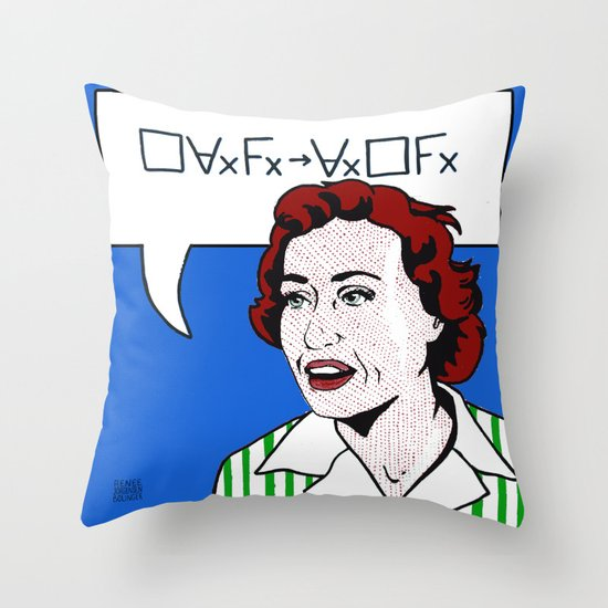 (Converse) Ruth Barcan Marcus Throw Pillow