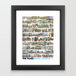 Ten Years in Davis Framed Art Print