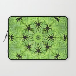 Fern frond fantasy kaleidoscope Laptop Sleeve