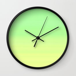 Lime Pastel Gradient Stripes | Green yellow pattern Wall Clock