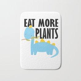Dino kids vegetarian vegan school gift Bath Mat