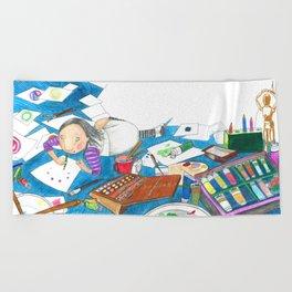 Believe in yourself - Art Explosion Beach Towel