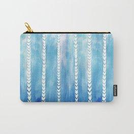 Ocean art, Indigo blue pattern Carry-All Pouch