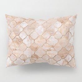 Quatrefoil Moroccan Pattern Pastel  Quartz Pillow Sham