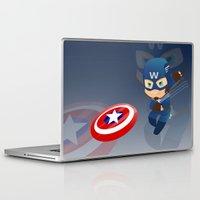 captain silva Laptop & iPad Skins featuring Captain by Clarisse2dart