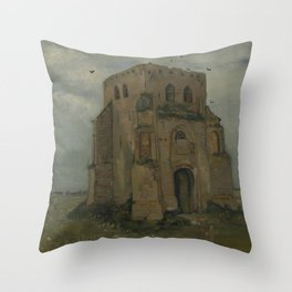 The Old Church Tower at Nuenen Throw Pillow
