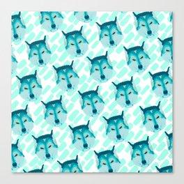 husky - wht pattern Canvas Print