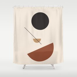 L'ascesa - On The Rise - modern abstract art hand drawn Shower Curtain