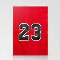 chicago bulls Stationery Cards featuring Michael 23 Jordan Chicago Bulls by Rorzzer