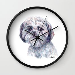 Shih Tzu - Dog Portrait Wall Clock