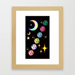 Alien Moon Rainbow Baby Framed Art Print