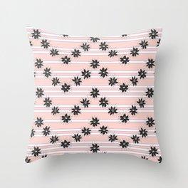 Night Blooming Cereus in Herringbone Throw Pillow