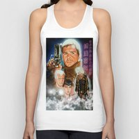 blade runner Tank Tops featuring Blade runner by calibos