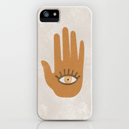 Hamsa, Hand of God#Art print#Society6 iPhone Case