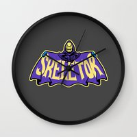 skeletor Wall Clocks featuring Skeletor cloak by Buby87