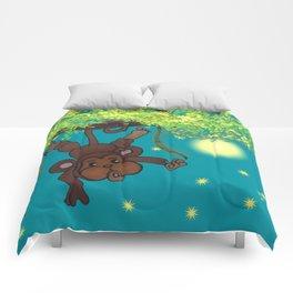 swinging little monkey Comforters