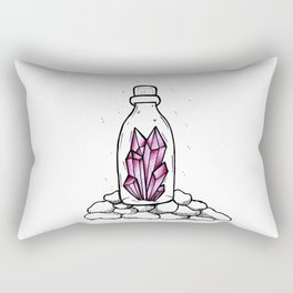 Crystal in a bottle Rectangular Pillow