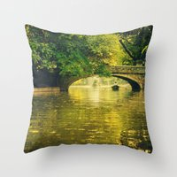 rowing Throw Pillows featuring Rowing by nature by Eduard Leasa Photography