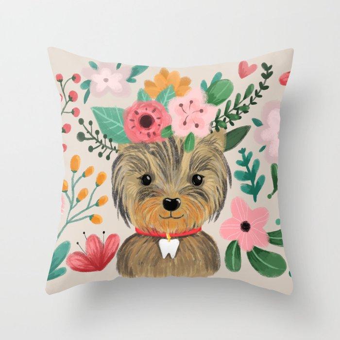 Yorkie Throw Pillow By Annaalexeeva Society6