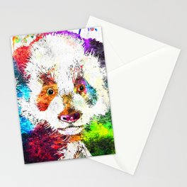 Giant Panda Grunge Stationery Cards