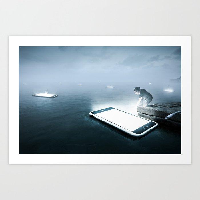 Drifting Apart Art Print