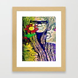 Cabsink16DesignepatternWID Framed Art Print