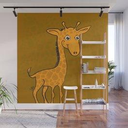 Giraffe - Sepia Brown Wall Mural