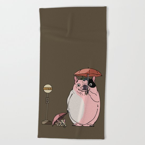 FrenchieToro Beach Towel