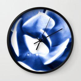 Echeveria In Blue Wall Clock