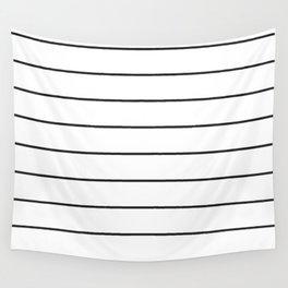SKINNY STRIPE ((black on white)) Wall Tapestry
